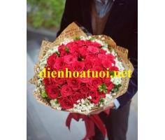 Bó hồng tươi đẹp mã DH26