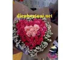 Hoa kết hình trái tim - DH011